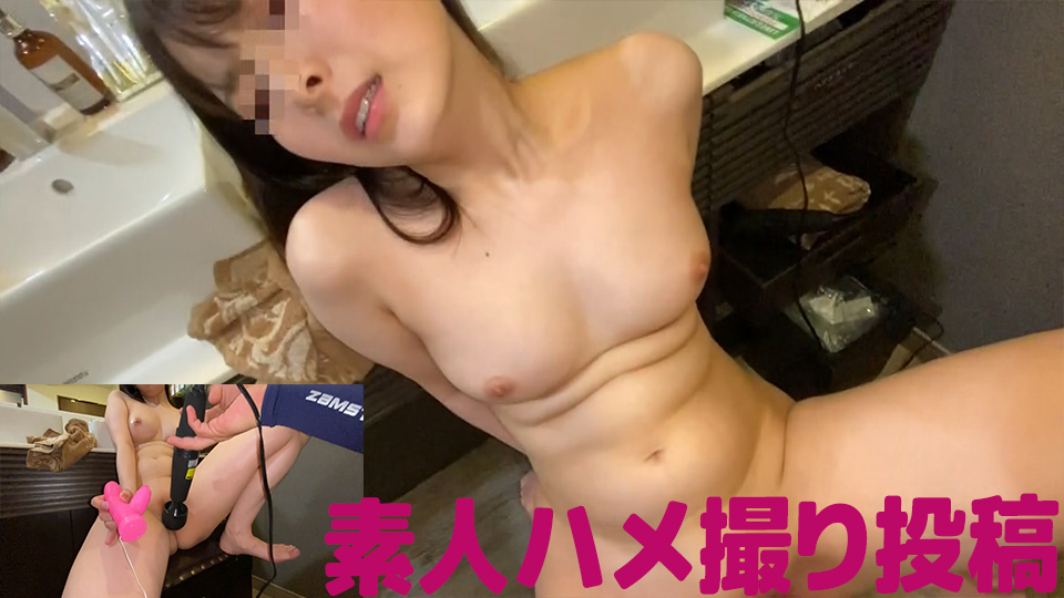 [Full bokki on crispy nipples! ] Shame play in front of the mirror to a shaved amateur girl with lon